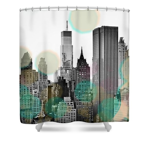 Gray City Beams Shower Curtain
