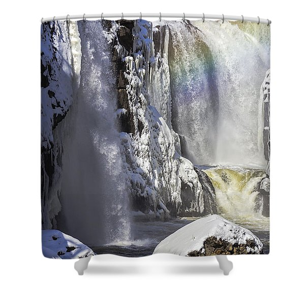 Great Falls And A Rainbow Shower Curtain