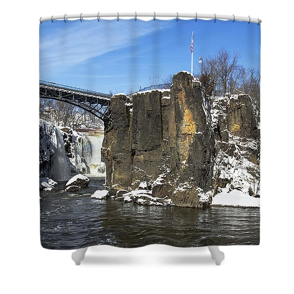 Great Falls In Color Shower Curtain