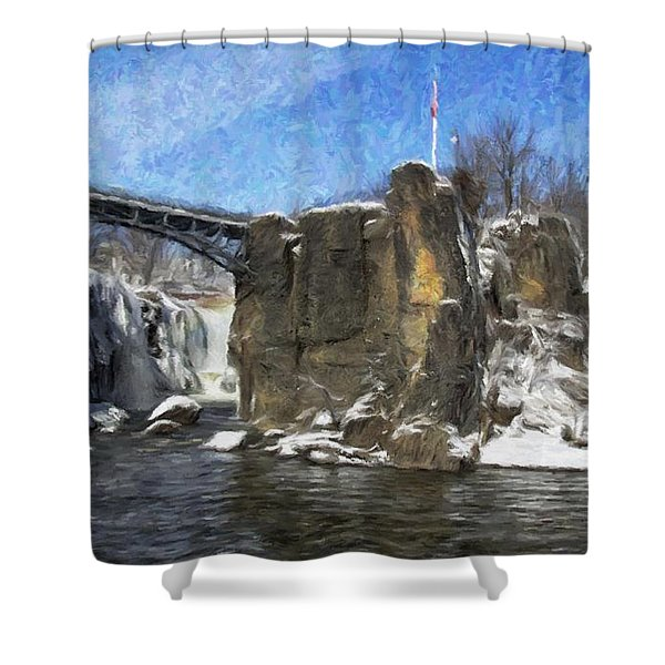 Great Falls Painted Shower Curtain