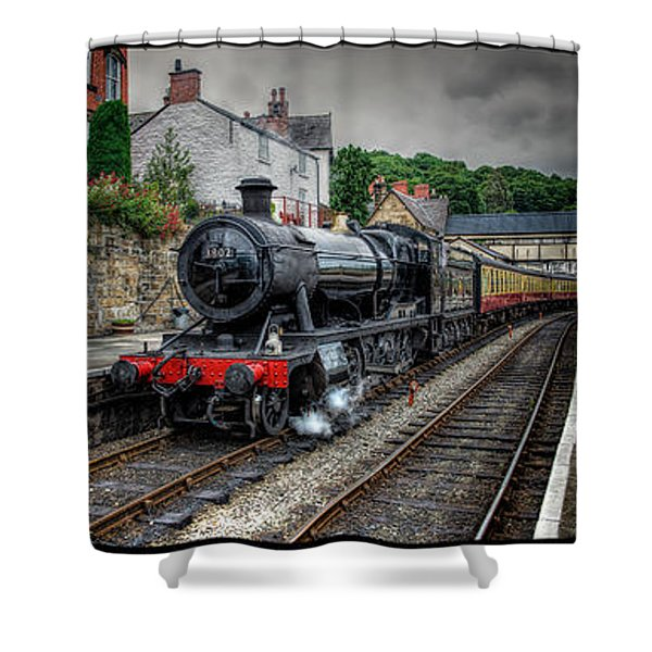 Great Western Locomotive Shower Curtain
