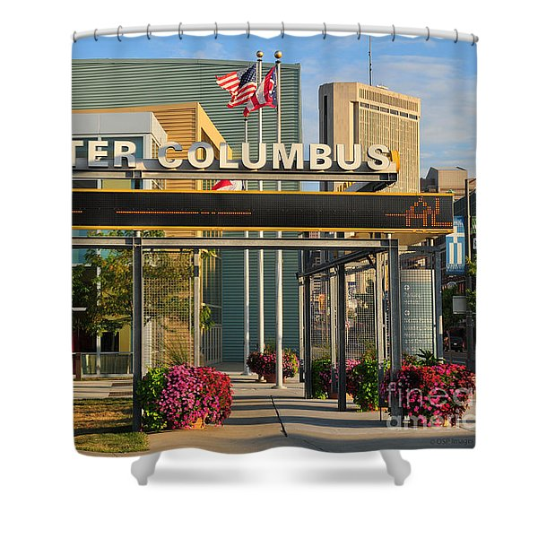 D8l-245 Greater Columbus Convention Center Photo Shower Curtain