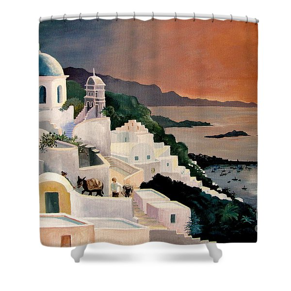 Greek Isles Shower Curtain