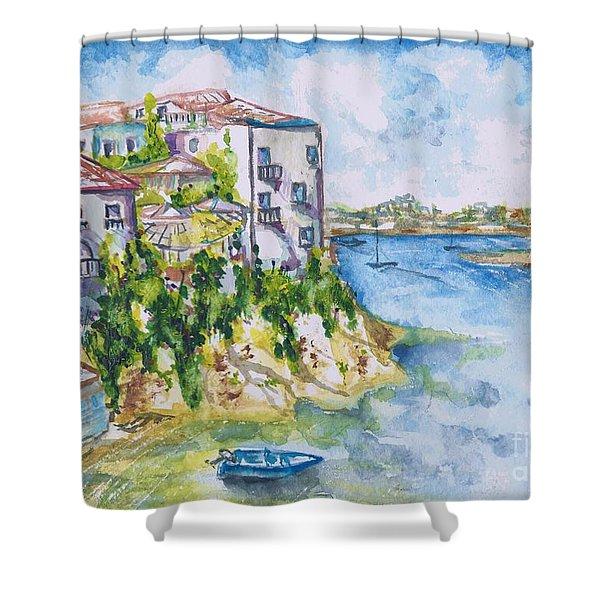 Greek Playground  Shower Curtain