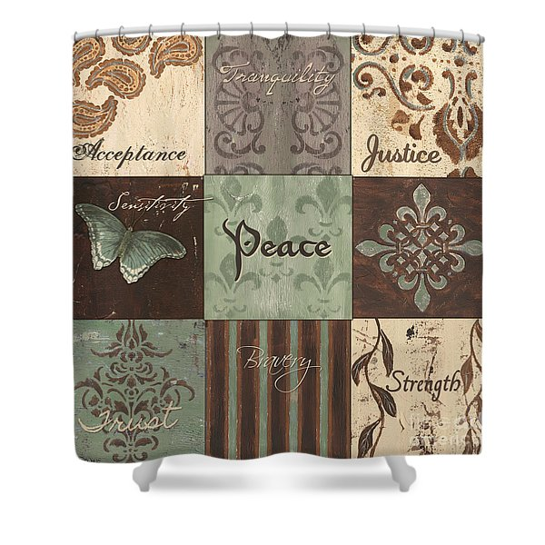 Green Brown Wtlb 2 Shower Curtain