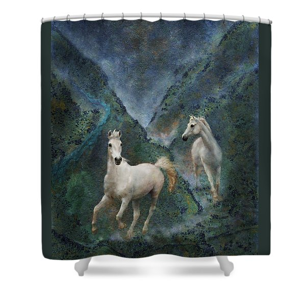 Shower Curtain featuring the photograph Green Canyon Run by Melinda Hughes-Berland
