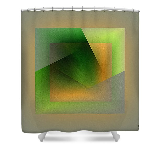 Shower Curtain featuring the digital art Green Color Wrap by Mihaela Stancu