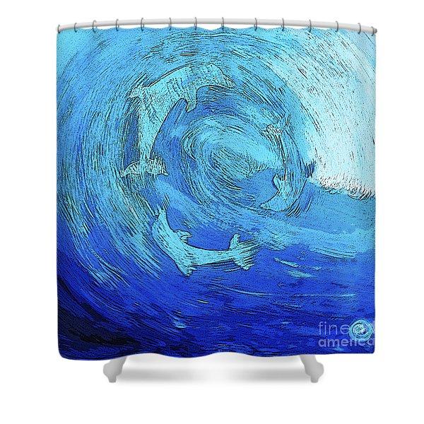 Green Dolphin Street Shower Curtain