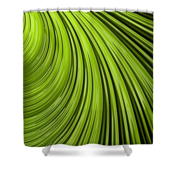 Green Flow Abstract Shower Curtain