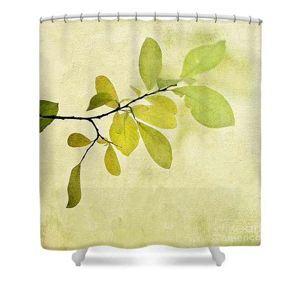 Green Foliage Series Shower Curtain