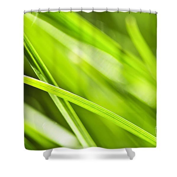 Green Grass Abstract Shower Curtain