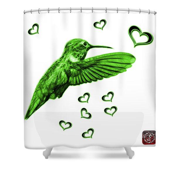 Green Hummingbird - 2055 F S M Shower Curtain
