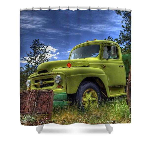 Green International Shower Curtain