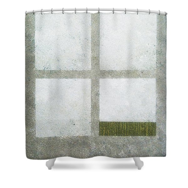 Green Painting 1 Shower Curtain