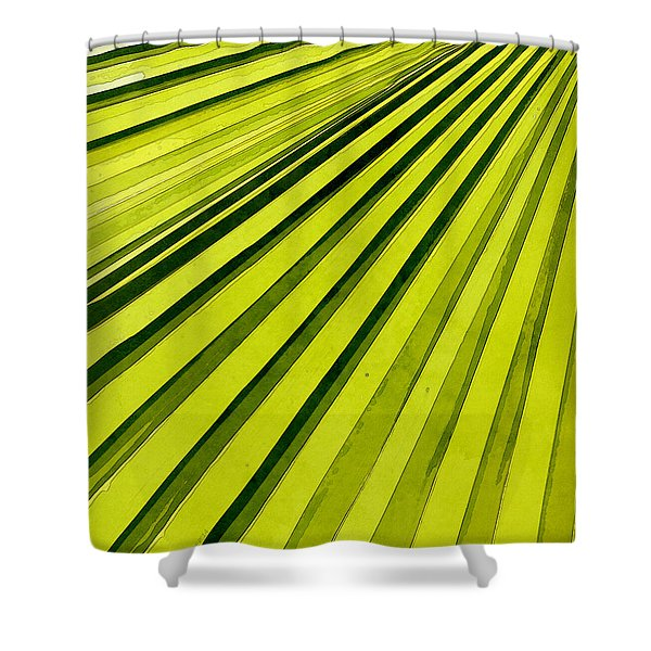 Green Palm Frond Shower Curtain