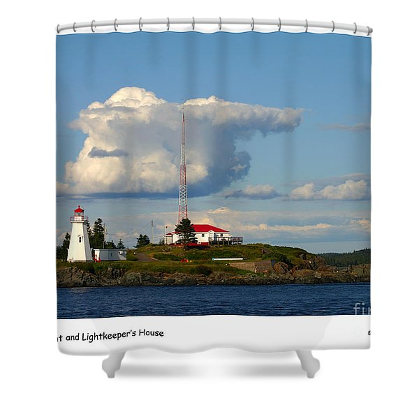 Green Point And Keepers Cottage Shower Curtain
