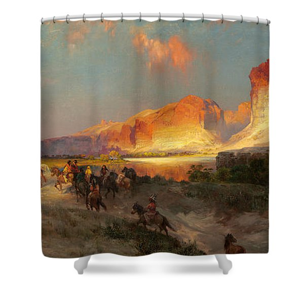 Green River Cliffs Wyoming Shower Curtain