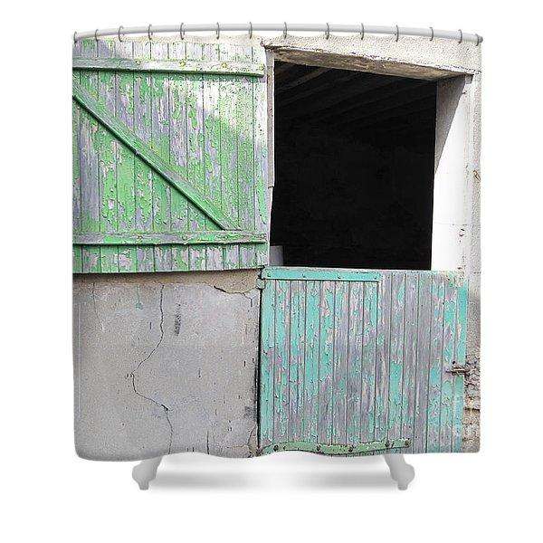 Green Stable Door Shower Curtain