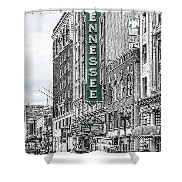 Green Tennessee Theatre Marquee Shower Curtain