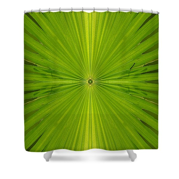 Greenburst Shower Curtain