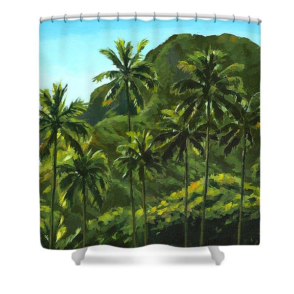 Greens Of Kahana Shower Curtain
