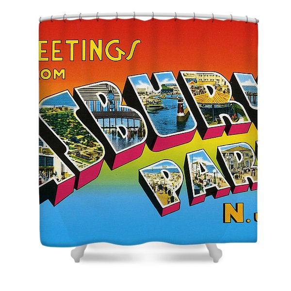 Greetings From Asbury Park Nj Shower Curtain