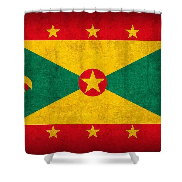 Grenada Flag Vintage Distressed Finish Shower Curtain