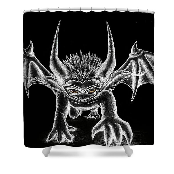 Grevil Chalk Shower Curtain