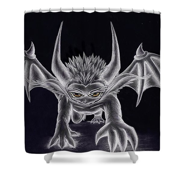 Grevil Silvered Shower Curtain