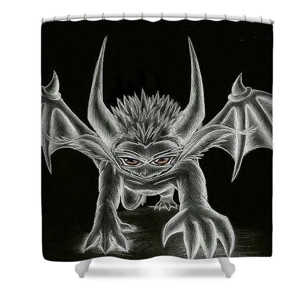 Grevil Statue Shower Curtain