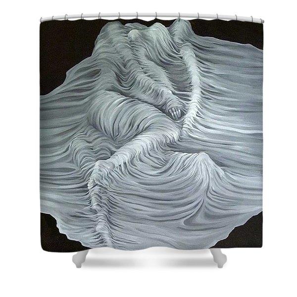 Greyish Revelation Shower Curtain