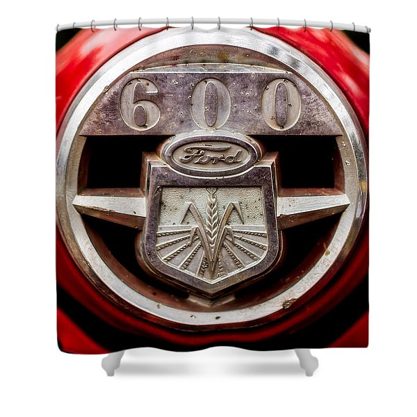 Grill Logo Detail - 1950s-vintage Ford 601 Workmaster Tractor Shower Curtain