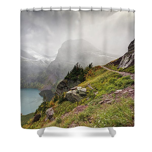 Grinnell Glacier Trail Shower Curtain