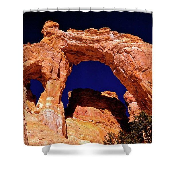 Grosvenor Arch Sunset Kodachrome Basin Shower Curtain