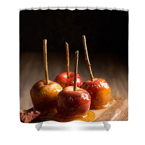 Group Of Candy Apples Shower Curtain