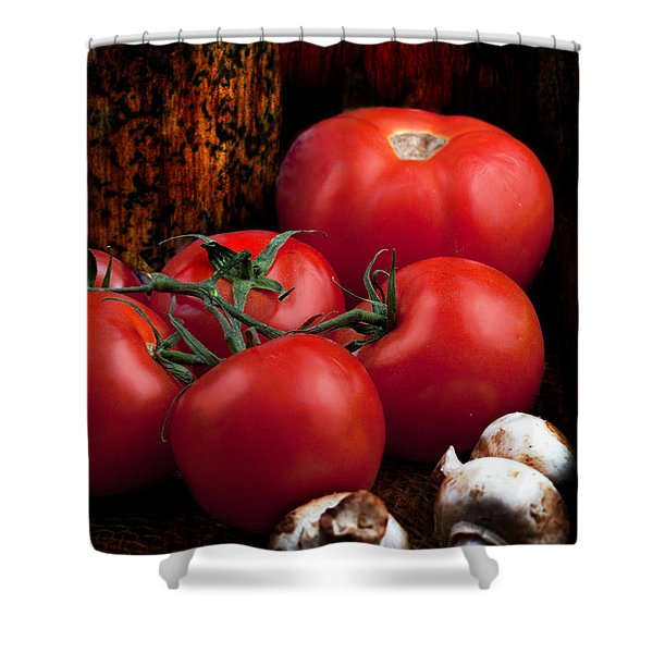 Shower Curtain featuring the photograph Group Of Vegetables by Gunter Nezhoda