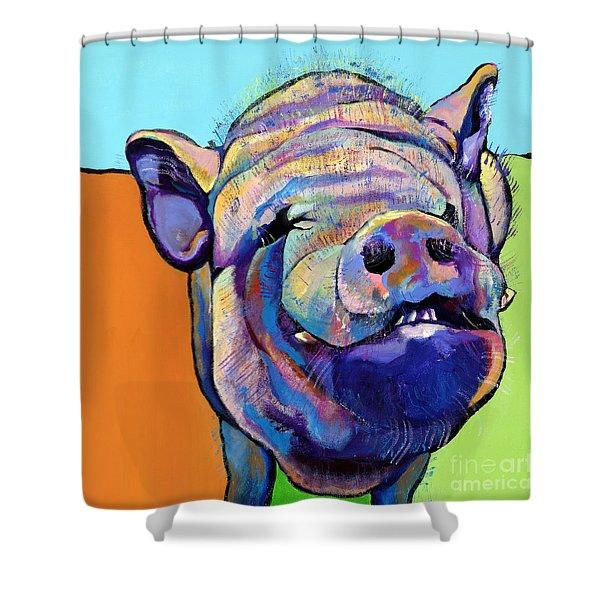 Grunt    Shower Curtain