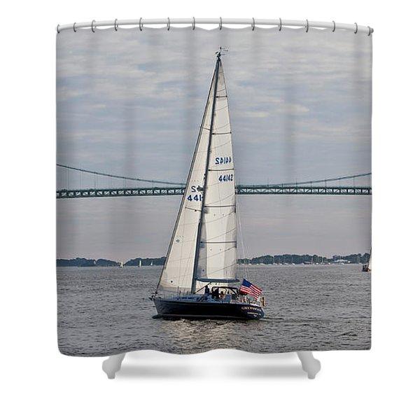 Gryphon Swan 44 Yacht Sailing Shower Curtain
