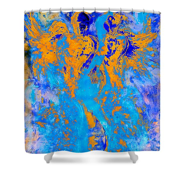 Guardians Of Heaven's Gate Shower Curtain