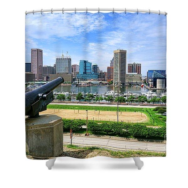 Guarding Baltimore Shower Curtain