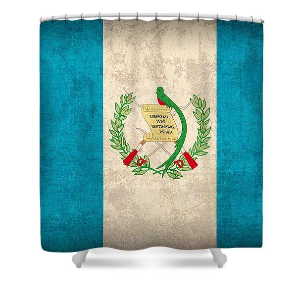 Guatemala Flag Vintage Distressed Finish Shower Curtain