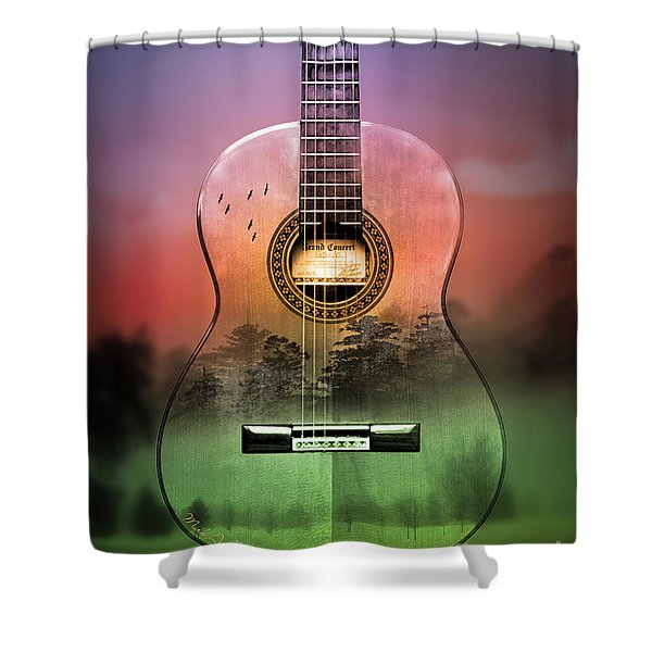Guitar Nature  Shower Curtain