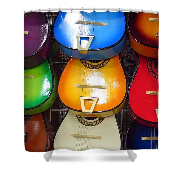 Guitaras San Antonio  Shower Curtain