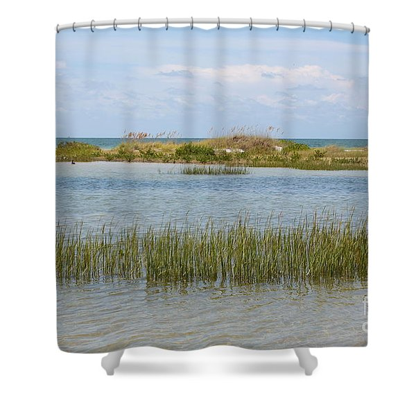Gulf Coast Serenity Shower Curtain