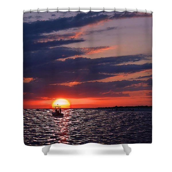 Gulf Coast Sunset Shower Curtain