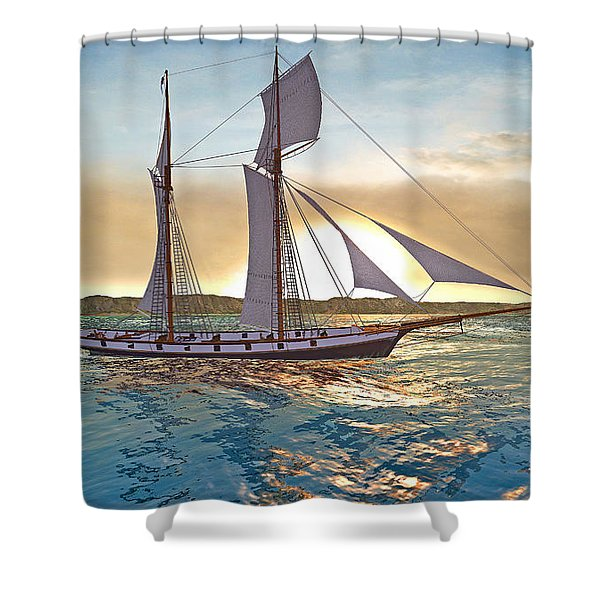 Gulf Of Mexico Area In The World Playground Scenery Project  Shower Curtain