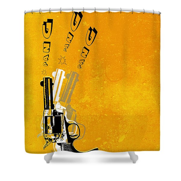 Gun 16 Shower Curtain