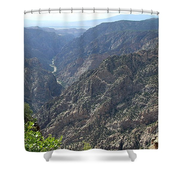 Gunnison River Winding Through The Mountains Shower Curtain