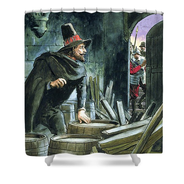 Guy Fawkes, From Peeps Into The Past Shower Curtain