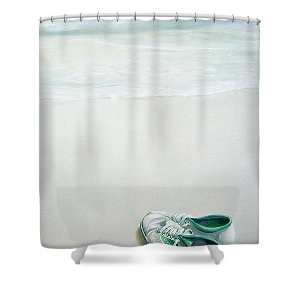 Gym Shoes On Beach Shower Curtain